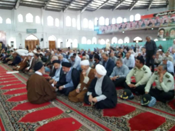 سخنرانی مسئول کانون فرهنگی قبل از خطبه های نماز جمعه شهرستان آمل